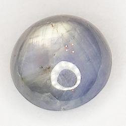 6.18ct Sapphire White Star cabochon round 8.7x8.7mm
