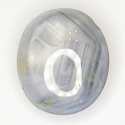 3.37ct White Star Sapphire cabochon oval 9.0x7.7mm