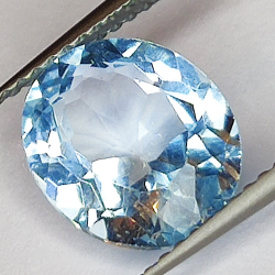 3.66ct Blue Topaz oval cut 10.7x8.8mm