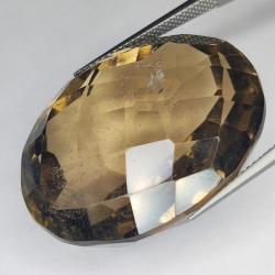 72.86ct Smoky Quartz oval cut 30.5x23.5mm