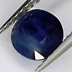 1.08ct Blue Sapphire oval cut 6.5x5.8mm