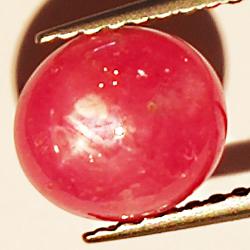 1.93ct Ruby Star cabochon oval 7.5x6.6mm