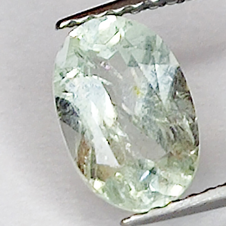 1.34ct Green Aquamarine oval cut 8.8x5.9mm