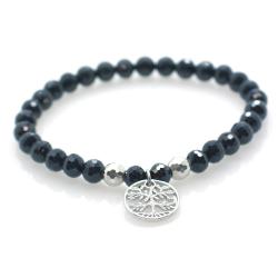 Spinel & 925 Sterling Silver Tree Bracelet