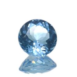 9,44 ct. Blue Topaz Round Cut
