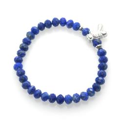 Lapislazuli & 925 Sterling Silver Bunny Bracelet