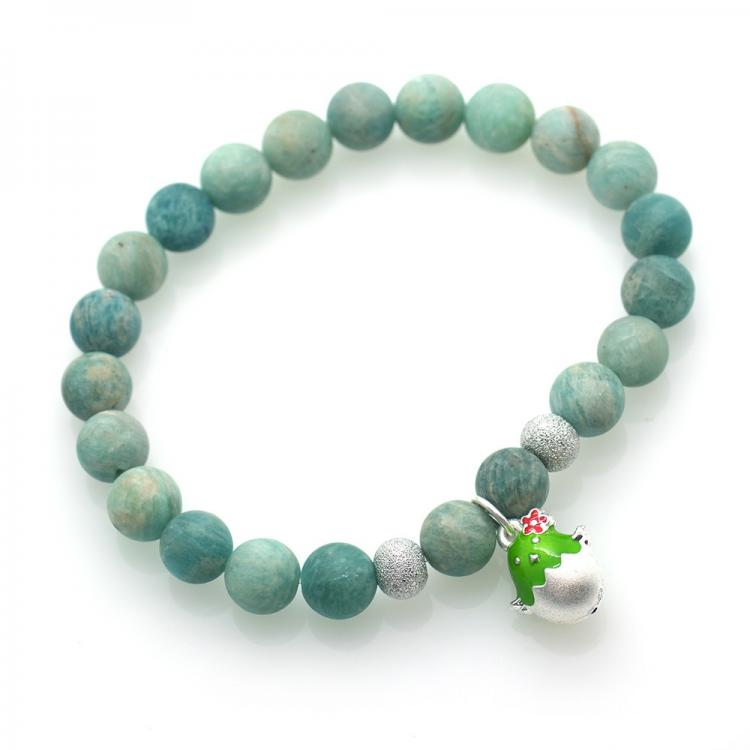 Amazonite & 925 Sterling Silver Chick Bracelet