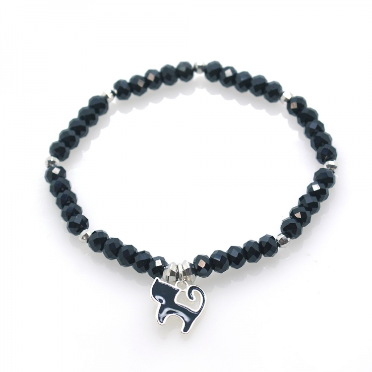 Spinel & 925 Sterling Silver Cat Bracelet