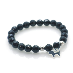 Tourmaline & 925 Sterling Silver Black Cat Bracelet