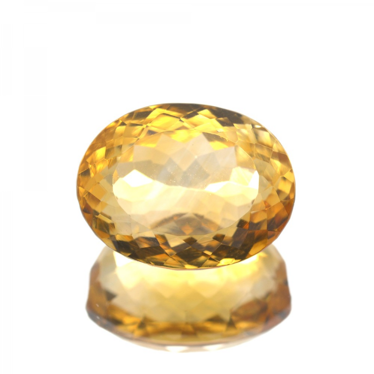 10,91 ct. Citrine Oval Cut