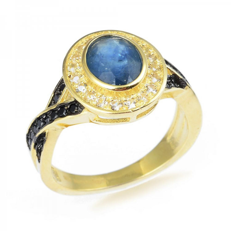 Sapphire, Spinel, Topaz & 925 Sterling Silver Ring