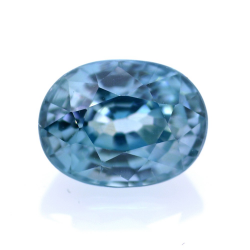 2,49 ct Natural Blue Zircon Oval Cut