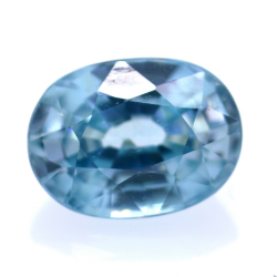 2,18 ct Natural Blue Zircon Oval Cut