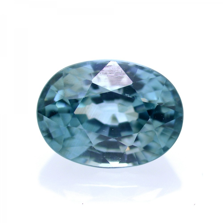 2,32 ct Natural Blue Zircon Oval Cut