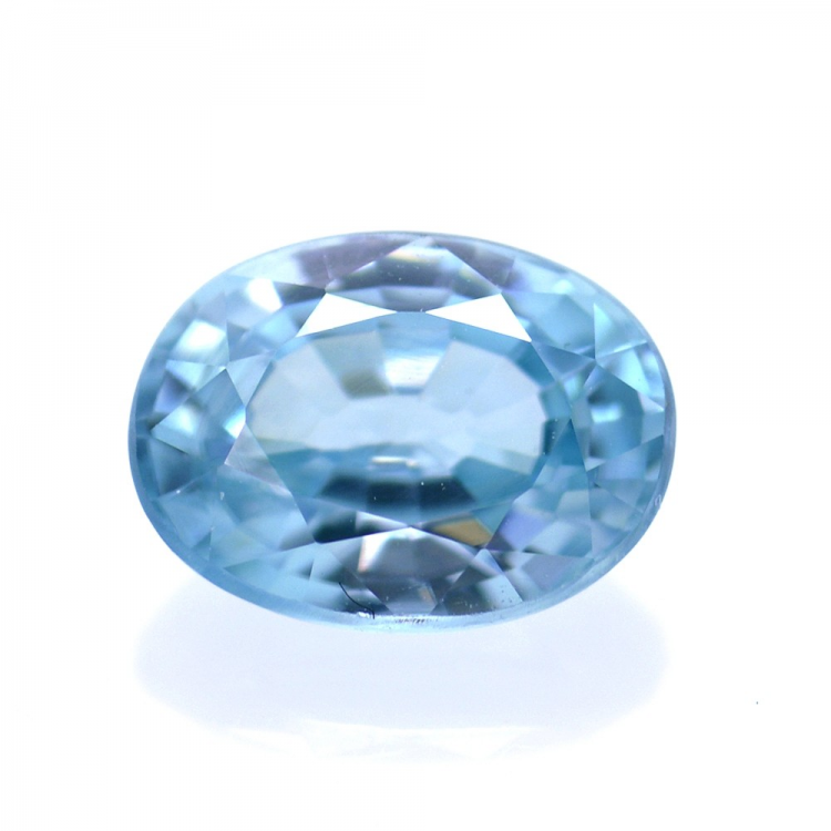 1,93 ct Natural Blue Zircon Oval Cut