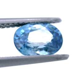2,09 ct Natural Blue Zircon Oval Cut