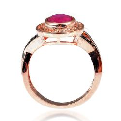 Ruby, Spinel, Topaz & 925 Sterling Silver Ring