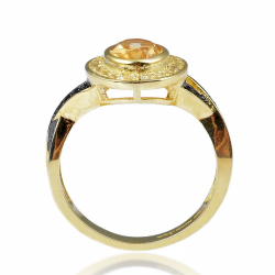 Citrine, Topaz, Spinel & 925 Sterling Silver Ring