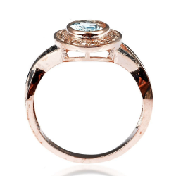 Topaz, Spinel & 925 Sterling Silver Ring