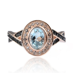 Topaz, Spinel & 925 Sterling Silver Ring