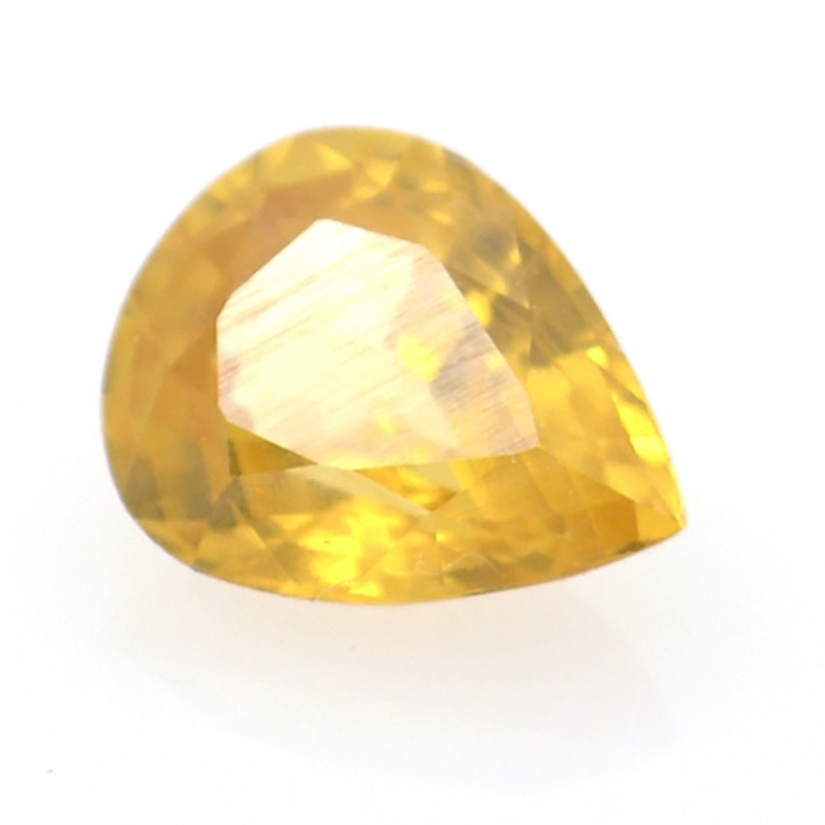 1.05ct Yellow Zircon Pear Cut