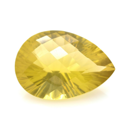 39.19ct Citrine Pear Concave Chessboard