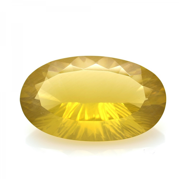68.70ct Citrine Oval Concave