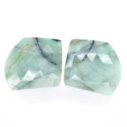 35.26ct Set Emerald Fancy Rose Cut